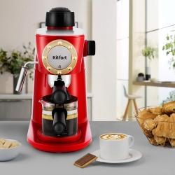 Кофеварка эспрессо Kitfort KT-756 красный/черный