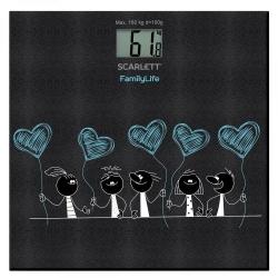 Весы напольные электронные Scarlett SC-BS33E019 макс.180кг черный/рисунок