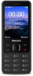 Мобильный телефон Philips E185 Xenium 32Mb черный моноблок 2Sim 2.8
