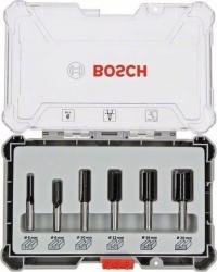 Набор фрез по дер. Bosch 2607017466 d(посад.)=8мм (фрезеры) (упак.:6шт)