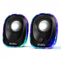 Колонки Sven 330 2.0 черный 5Вт