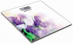 Весы напольные электронные Redmond RS-733 белый/тюльпан