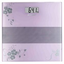 Весы напольные электронные Scarlett SC-BS33E060 фиолетовый/рисунок