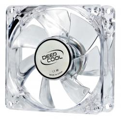 Вентилятор Deepcool XFAN 80L/B 80x80x25mm 3-pin 20dB 60gr LED Ret