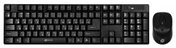 Клавиатура + мышь Oklick 210M черный беспроводная