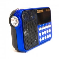 Радиоприемник портативный Сигнал РП-224 черный/синий