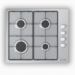 Газовая варочная поверхность Lex GVS 644-1 IX нержавеющая сталь