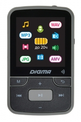 Плеер Hi-Fi Flash Digma Z4 BT 16Gb черный/1.5 /FM/microSD/clip