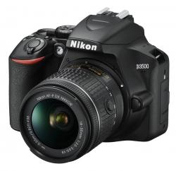 Зеркальный Фотоаппарат Nikon D3500 черный 24.2Mpix 18-55mm f/3.5-5.6 VR AF-P 3 1080p Full HD SDXC Li-ion (с объективом)