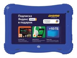 Планшет Digma Optima Kids 7 RK3126C (1.2) 4C/RAM1Gb/ROM16Gb 7 IPS 1024x600/Android 8.1/голубой/2Mpix/0.3Mpix/BT/GPS/WiFi/Touch/microSD 64Gb/minUSB/2500mAh