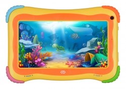 Планшет Digma Optima Kids 7 RK3126C (1.2) 4C/RAM1Gb/ROM16Gb 7 IPS 1024x600/Android 8.1/разноцветный/2Mpix/0.3Mpix/BT/GPS/WiFi/Touch/microSD 64Gb/minUSB/2500mAh