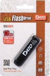 Флеш Диск Dato 16Gb DS2001 DS2001-16G USB2.0 черный