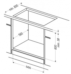 Духовой шкаф Электрический Hansa BOES68411 черный