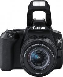 Зеркальный Фотоаппарат Canon EOS 250D черный 24.1Mpix EF-S 18-55mm f/1:4-5.6 IS STM 3 4K Full HD SDXC Li-ion