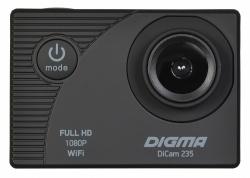 Экшн-камера Digma DiCam 235 черный