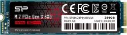 Накопитель SSD Silicon Power PCI-E x4 256Gb SP256GBP34A80M28 M-Series M.2 2280