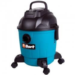 Строительный пылесос Bort BSS-1218 1200Вт (уборка: сухая/влажная) синий