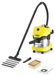 Пылесос Karcher WD4 Premium 1000Вт желтый/черный