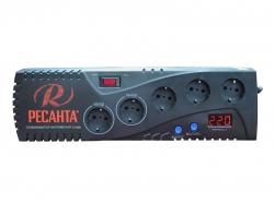 Стабилизатор напряжения Ресанта С1500 электронный однофазный серый