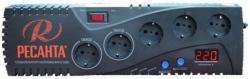 Стабилизатор напряжения Ресанта С1000 электронный однофазный серый