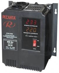 Стабилизатор напряжения Ресанта СПН-900 электронный однофазный черный