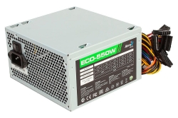 Блок питания Aerocool ECO-550 (24+4pin) 120mm fan 3xSATA RTL