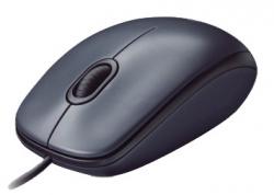 Мышь Logitech M90 черный/темно-серый проводная
