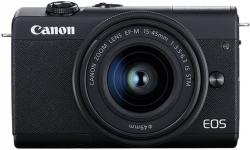 Фотоаппарат Canon EOS M200 черный 24.1Mpix 3 4K WiFi 15-45 IS STM LP-E12 (с объективом)