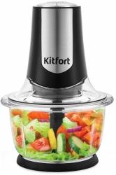 Измельчитель электрический Kitfort КТ-1390 черный/серебристый
