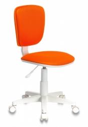 Кресло детское Бюрократ CH-W204NX/ORANGE оранжевый TW-96-1 (пластик белый)