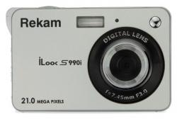 Фотоаппарат Rekam iLook S990i серебристый 21Mpix 2.7 720p SDHC/MMC CMOS IS el/Li-Ion