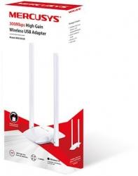Сетевой адаптер WiFi Mercusys MW300UH N300 USB 2.0 (ант.внеш.несъем.) 2ант.