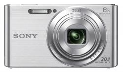 Фотоаппарат Sony Cyber-shot DSC-W830 серебристый 20.1Mpix Zoom8x 2.7 720p 27Mb MS Pro/MS Pro Duo Super HAD CCD 1x2.3 IS opt 5minF 0.8fr/s 30fr/s/Li-Ion