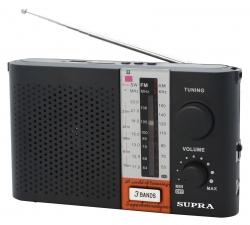 Радиоприемник портативный Supra ST-17U черный