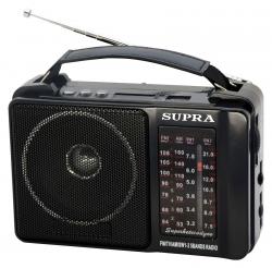 Радиоприемник портативный Supra ST-18U черный
