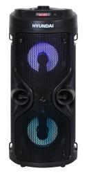 Минисистема Hyundai H-MC150 черный 50Вт/FM/USB/BT/SD/MMC