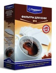 Фильтры для кофе для кофеварок капельного типа Topper №4 белый 1х4 (упак.:100шт)