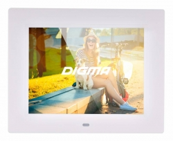 Фоторамка Digma 8 PF-833 1024x768 белый пластик ПДУ Видео