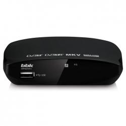 Ресивер DVB-T2 BBK SMP002HDT2 черный