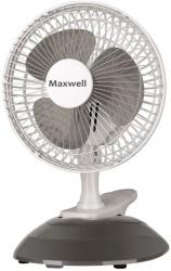 Вентилятор настольный Maxwell MW-3548 15Вт скоростей:2 серый/белый
