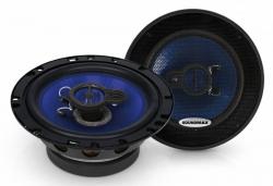 Колонки автомобильные Soundmax SM-CSE603 4Ом 16см (6дюйм) (ком.:2кол.) коаксиальные трехполосные