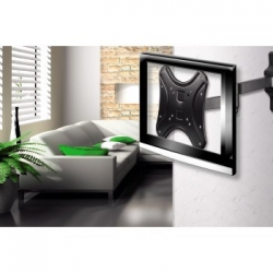 Кронштейн для телевизора Hama H-108727 черный 10-46 макс.25кг настенный поворотно-выдвижной и наклонный