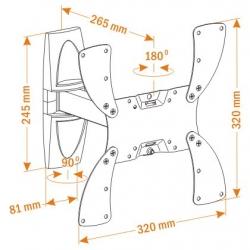 Кронштейн для телевизора Holder LCDS-5020 белый 22 -42 макс.30кг настенный поворот и наклон