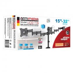 Кронштейн для мониторов Arm Media LCD-T15 черный 15 -32 макс.30кг настольный поворот и наклон верт.перемещ.