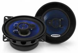 Колонки автомобильные Soundmax SM-CSE403 4Ом 10см (4дюйм) (ком.:2кол.) коаксиальные трехполосные