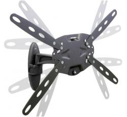 Кронштейн для телевизора Holder LCDS-5025 черный глянец 26 -47 макс.50кг настенный поворот и наклон