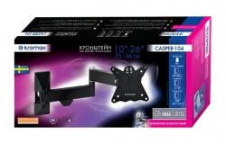 Кронштейн для телевизора Kromax CASPER-104 черный 10 -26 макс.15кг настенный поворот и наклон