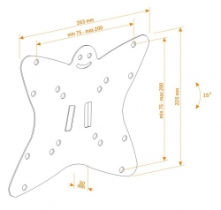 Кронштейн для телевизора Holder LCDS-5051 металлик 19 -32 макс.30кг настенный наклон