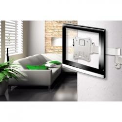 Кронштейн для телевизора Hama H-108737 белый 10-26 макс.25кг настенный поворотно-выдвижной и наклонный