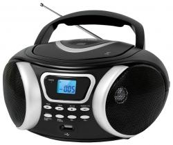 Аудиомагнитола BBK BX170BT черный/серебристый 4Вт/CD/CDRW/MP3/FM(dig)/USB/BT